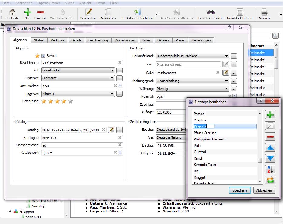 Briefmarken software stecotec briefmarken verwaltung pro 16 for Raumgestaltung software kostenlos